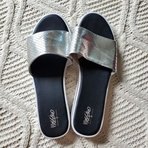 Mossimo Silver Sporty Slide Sandals